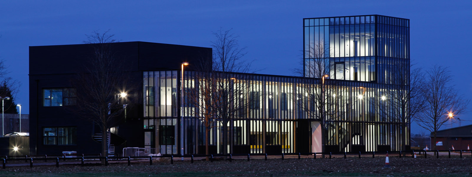 Image: Alconbury Incubator Building at night