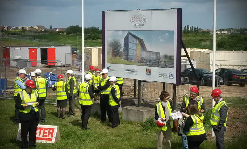 King's Lynn Innovation Centre Turf Cutting Ceremony