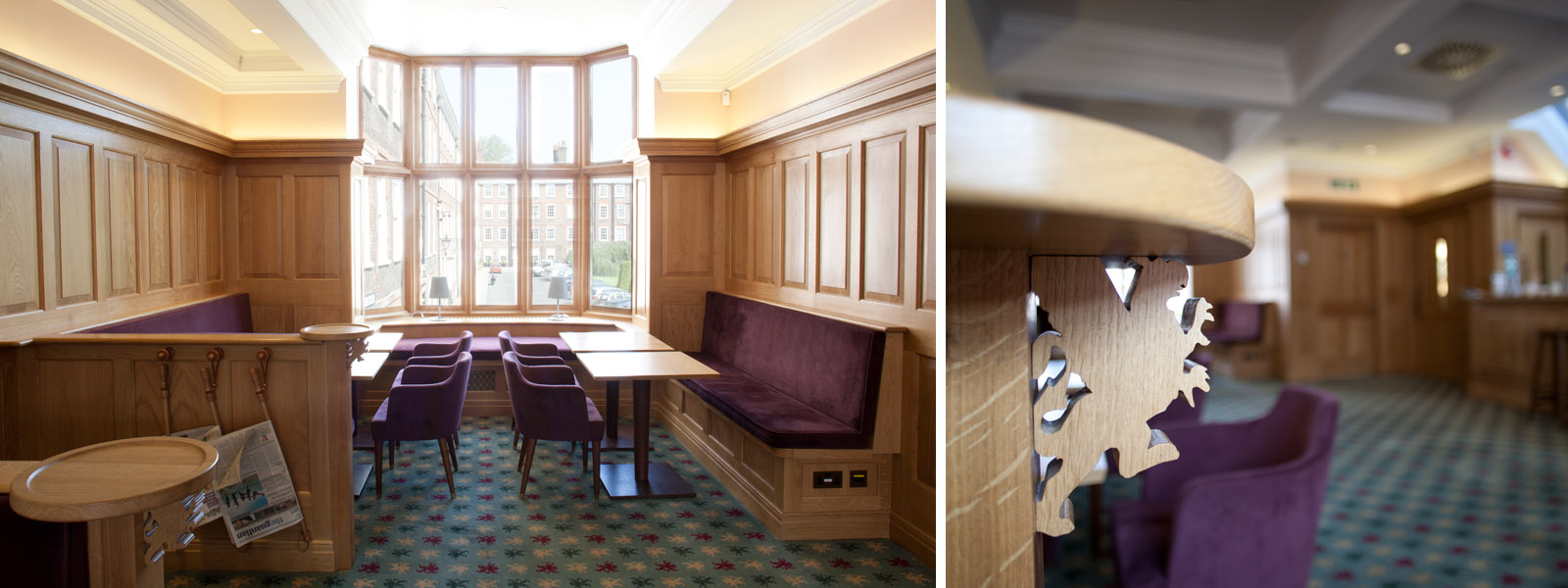 Image: The Bridge Bar Grays Inn interior
